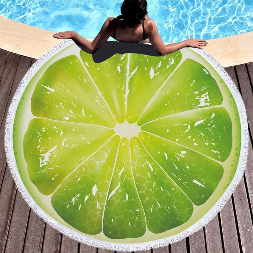 Oversized Fruit Slice Beach Towel / Blanket Orange TmrwsBig