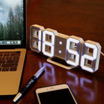 Oversized LED Clock White / White TmrwsBig