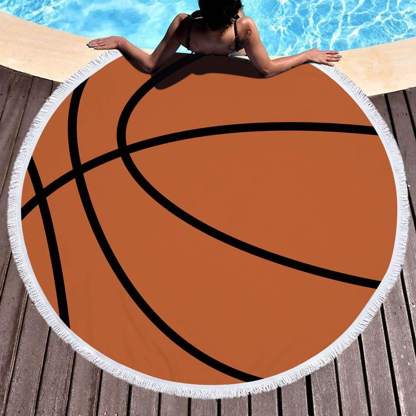 Oversized Sports Ball Beach Towel / Blanket Soccer TmrwsBig