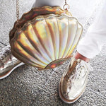 Seashell Women's Crossbody Purse Silver TmrwsBig
