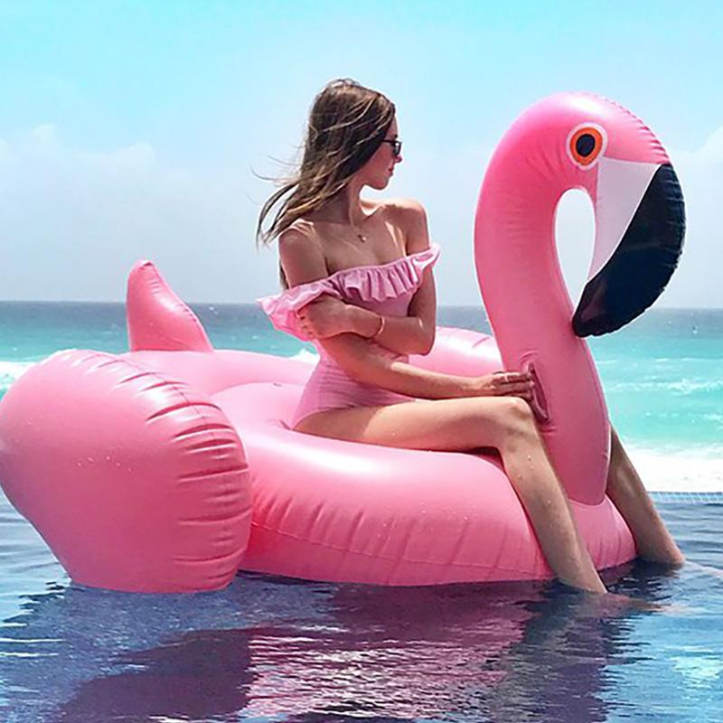 Supersized Flamingo Pool Float Default Title TmrwsBig