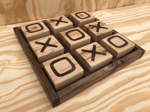 Supersized Tic Tac Toe Board Dark Brown / Grey / Dark Brown TmrwsBig
