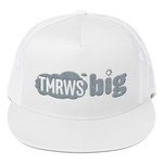 TmrwsBig Official Trucker Embroidered Hat- White Black Merchandise TmrwsBig