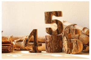 Tree Bark Letters & Numbers A TmrwsBig