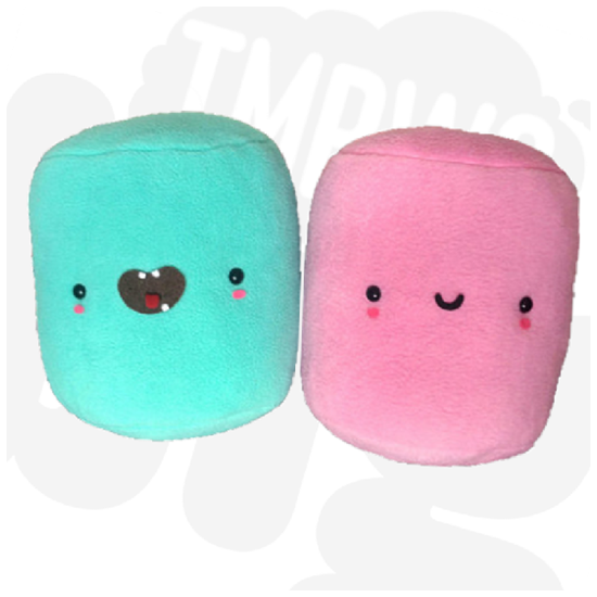 Ultra Cute Jumbo Marshmallow Pillow Blue TmrwsBig