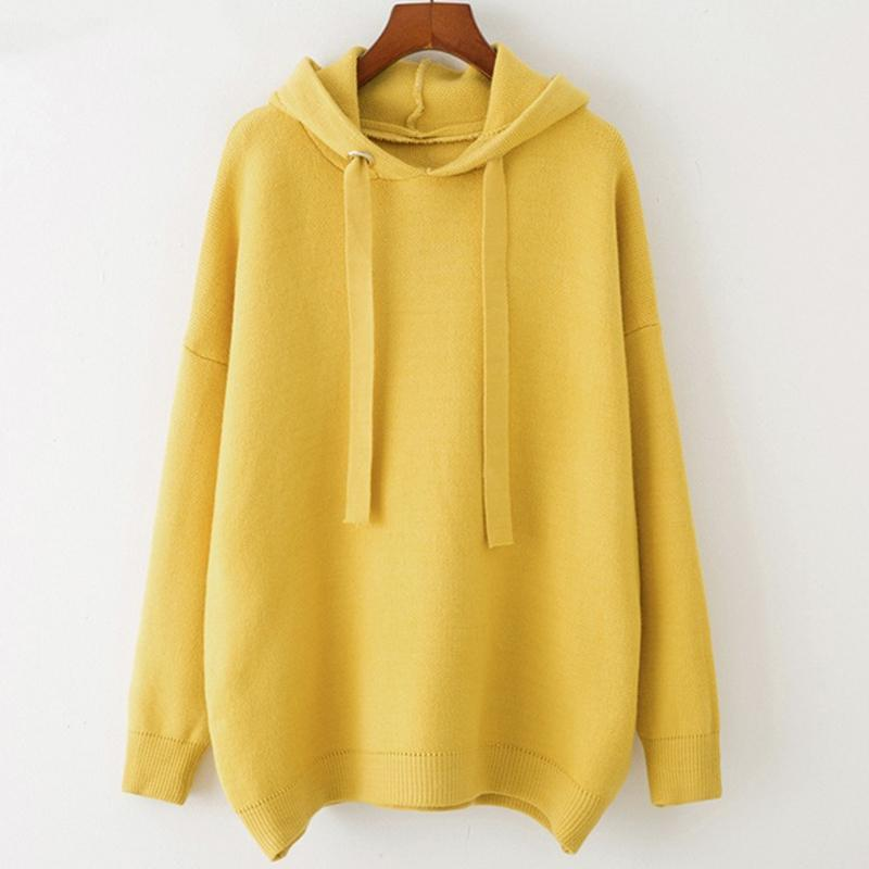 Women's Oversized Fleece Hoodie with Jumbo Laces Canary Yellow TmrwsBig