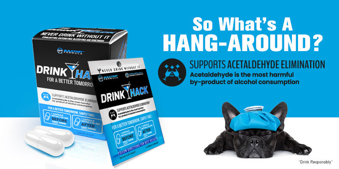 "DRINKHACK by Build Fast Formula is a supplment that helps prevent ""hang-arounds"" after a night out."