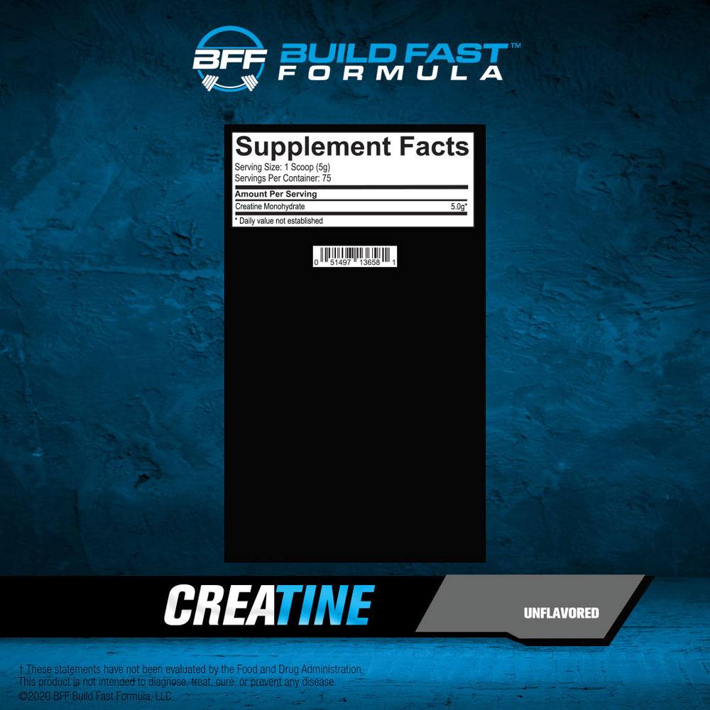 CREATINE MONOHYDRATE - Unflavored 375g - 75 serving