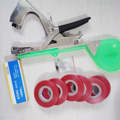 High Quality Plant Branch Hand Tying Binding Machine Flower Vegetable Garden Tapetool Tapener +Tapes Garden Tools 1set