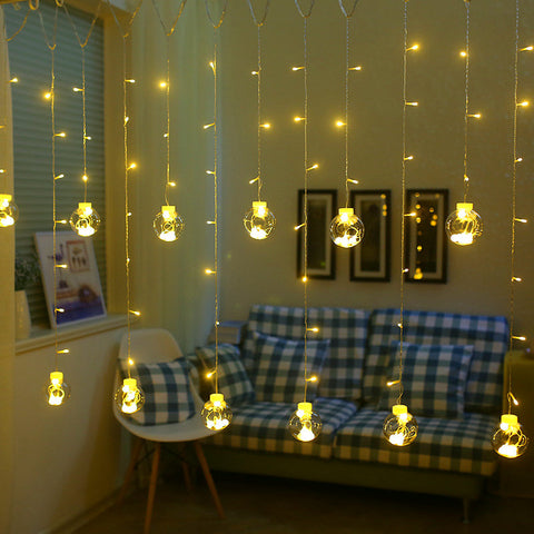 Wish Ball Globe LED String Lights Curtain String Fairy Light Backyard Patio Decorative Outdoor Garland Wedding Lights