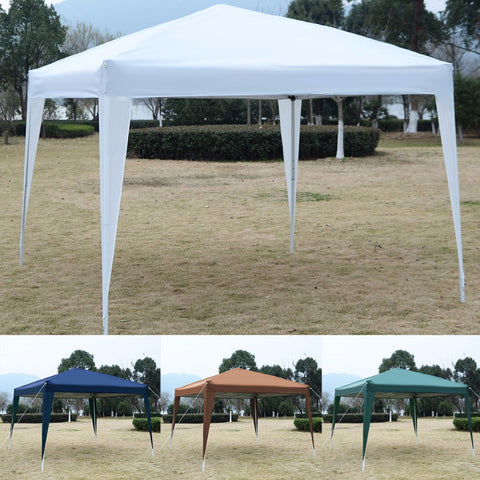 "GOPLUS 10"" X10"" EZ POP UP Canopy Tent Gazebo Wedding Party Tent Shelter Carry Bag New OP2830"