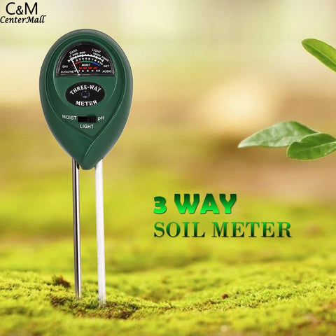 3 in 1 soil PH Water Moisture Meter Acidity Humidity Sunlight Garden Plants Flowers Moist Tester Instrument Tool for Plant