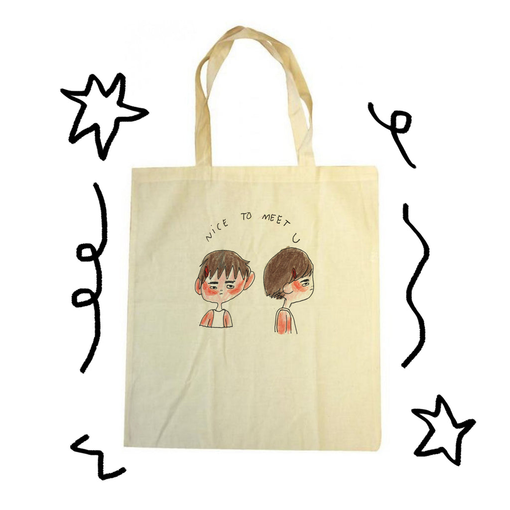 Tote Bag Nice To Meet U (Faces)