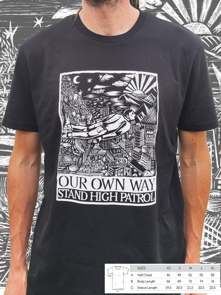 T-shirt bio noir unisexe Our Own Way Cover
