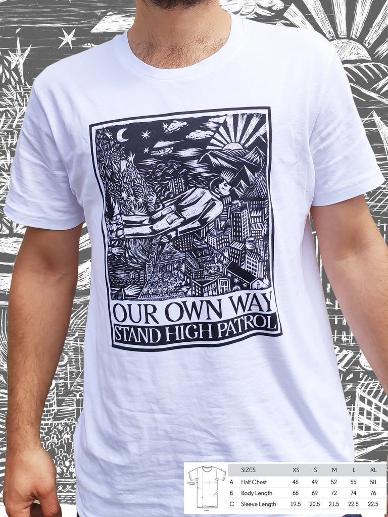 T-shirt bio blanc unisexe Our Own Way Cover