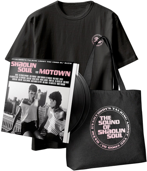 SHAOLIN SOUL PLAYS MOTOWN - VINYL, T-SHIRT & TOTE BAG BUNDLE