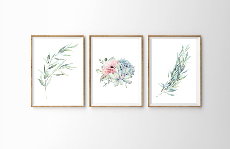 Botanical Set of Three