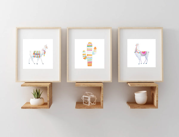 Boho Llama Set of Three