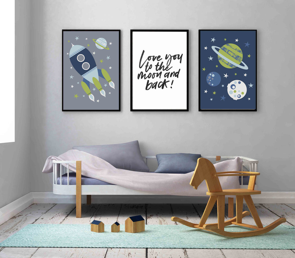 Love You To The Moon Space Set