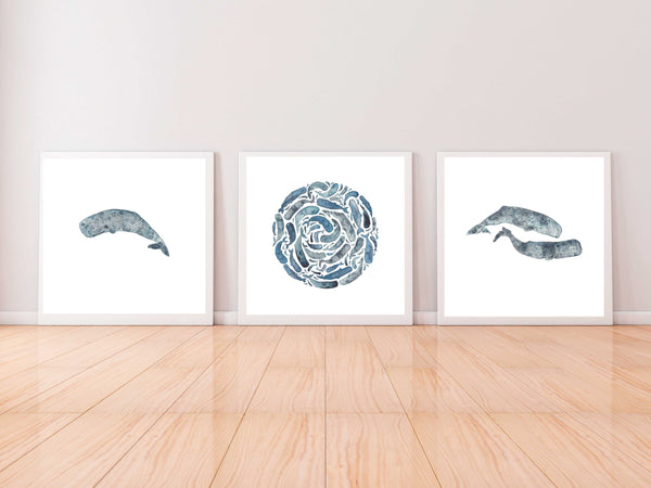 Whales Set of 3