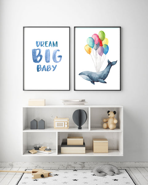 Dream Big Baby & Whale