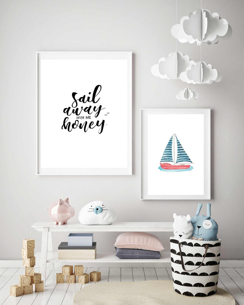 Sail Away With Me Sailing Boat