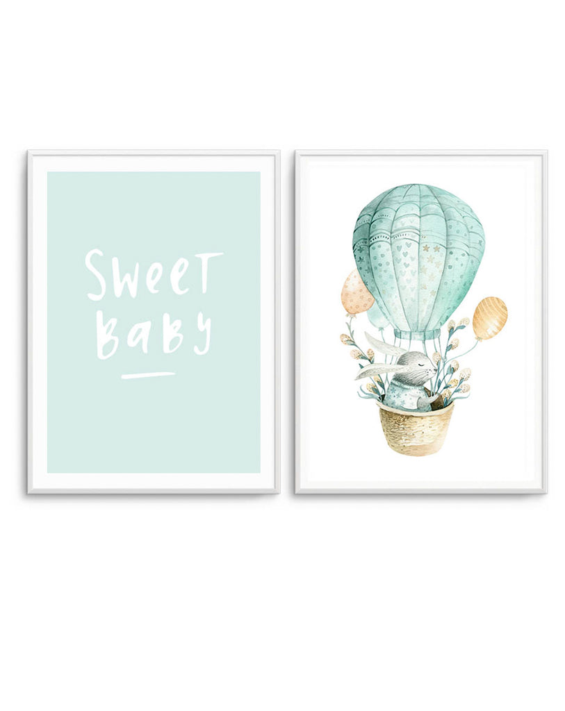 Sweet Baby & Bunny Balloon