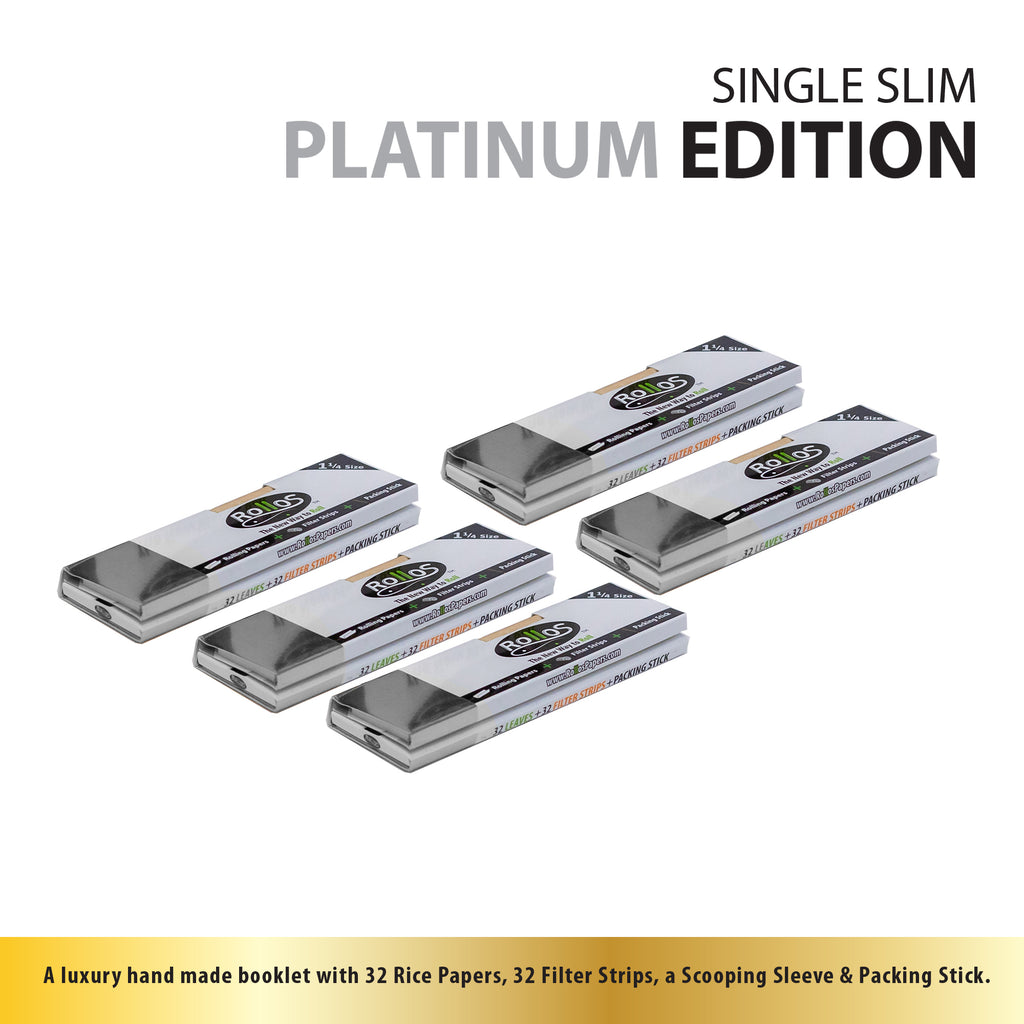 Rollos Rolling Papers - Platinum Edition Single Slim (68mm)
