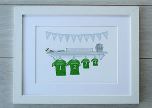 GAA Jersey Family Prints - Limerick Champions Edition