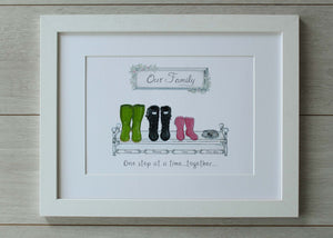 Welly Family Prints