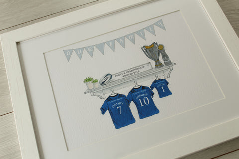 Rugby Family Prints - Leinster Champions Edition