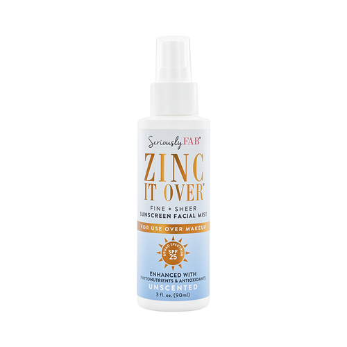 Zinc it Over Unscented Sunscreen Mist