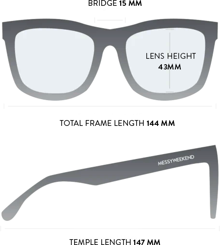brooklyn sunglasses measurements