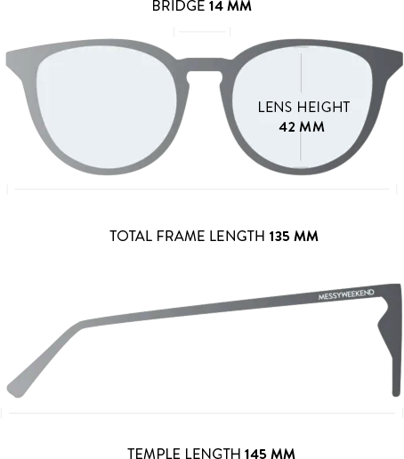 depp sunglasses measurements