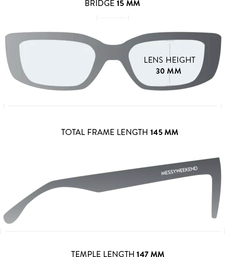 grace sunglasses measurements