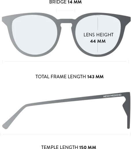 new depp sunglasses measurements