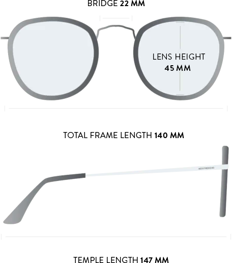 shackleton sunglasses measurements