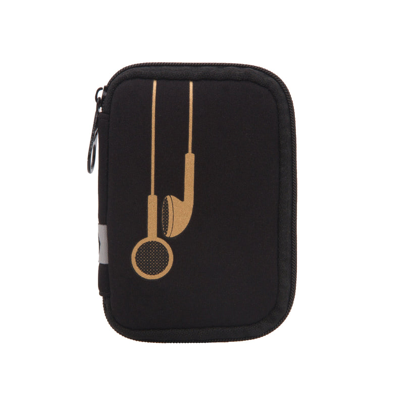 Black w/ Gold Earbuds Ear Bud Case