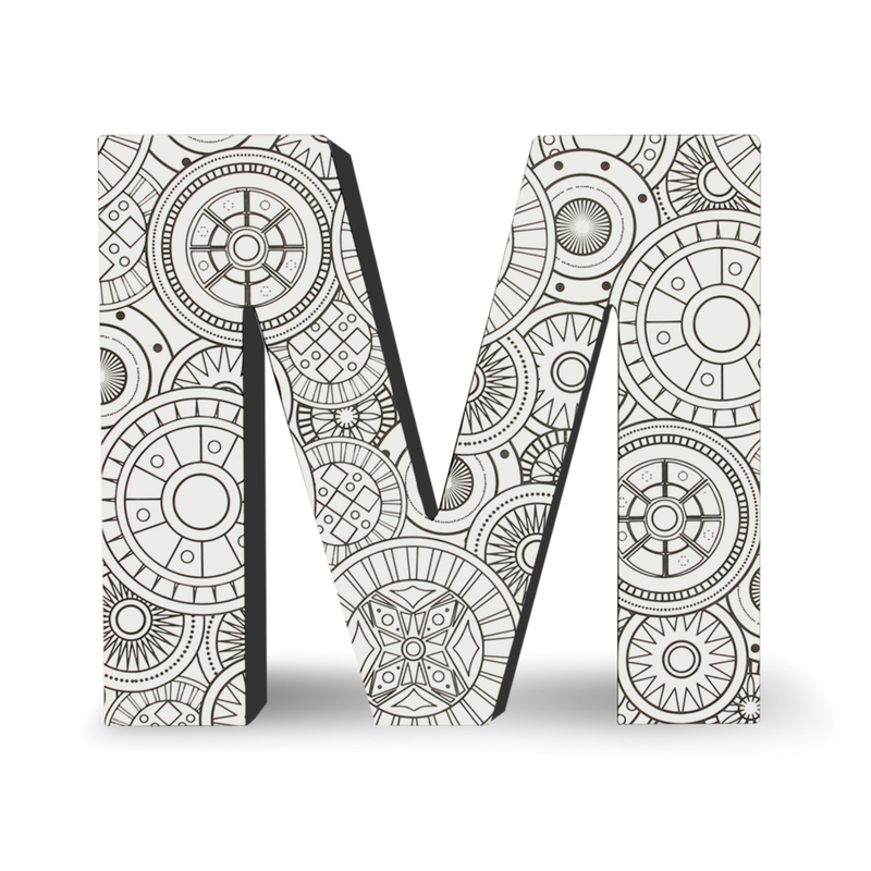 Color Joy Block Letter M