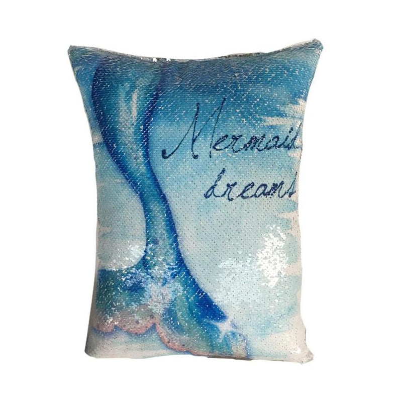 Mermaid Dreams Reversible Tail Pillow