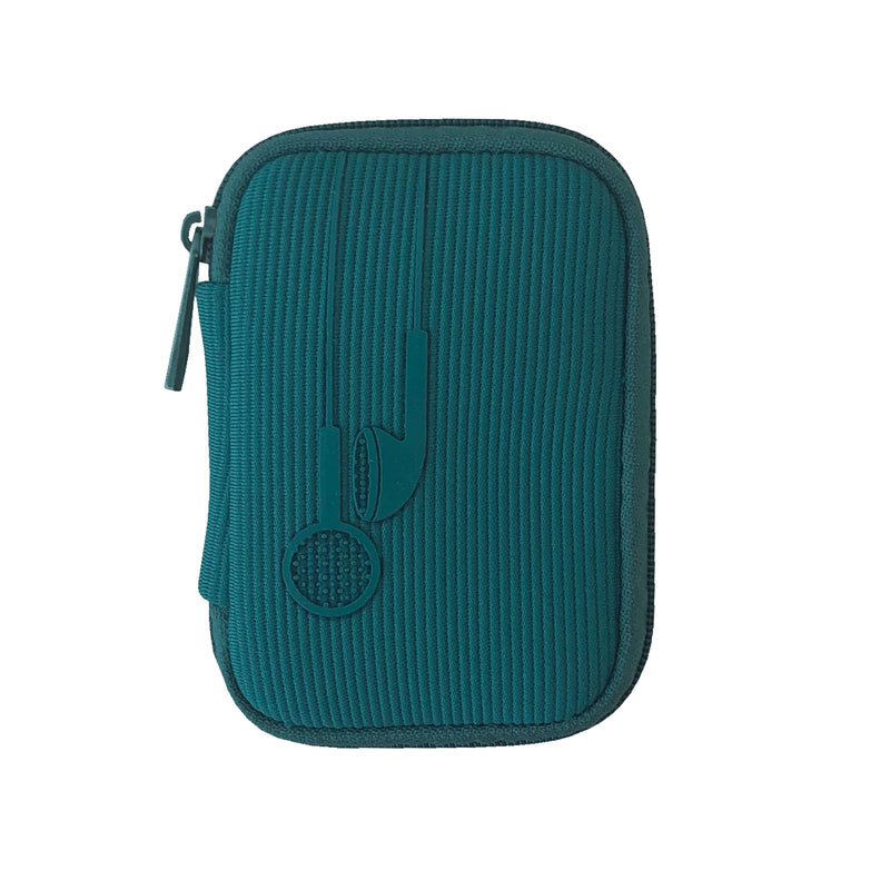 Teal Colored Ear Bud Case
