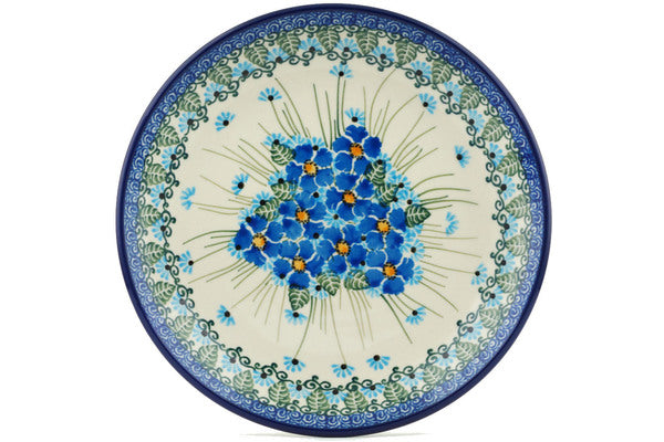 Polish Pottery Dessert Plate Forget Me Not