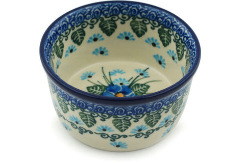 Polish Pottery Small Ramekin Bowl Forget Me Not
