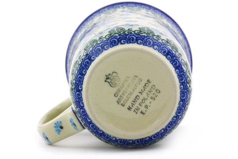 Polish Pottery 17 oz Mug Forget Me Not