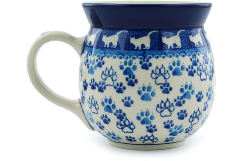Polish Pottery 16 oz Bubble Mug Boo Boo Kitty Paws