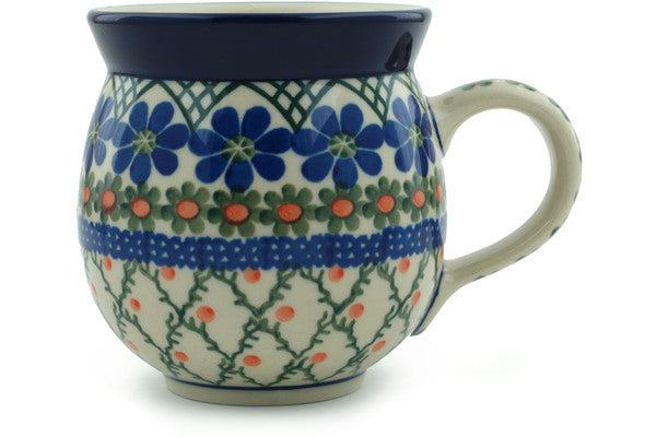 Polish Pottery 12 oz Bubble Mug Primrose Trellis