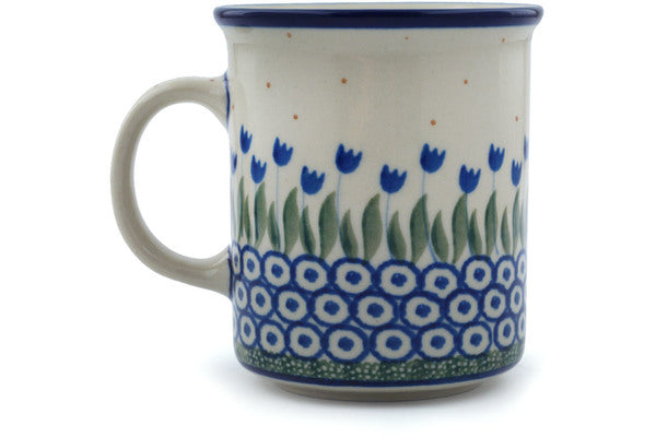 Polish Pottery 10 oz Mug Water Tulip