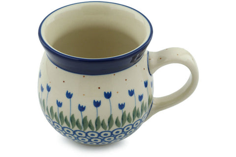 Polish Pottery 16 oz Bubble Mug Water Tulip
