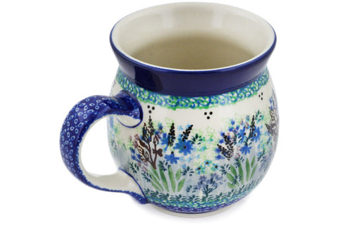 Polish Pottery 16 oz Bubble Mug Lavender Meadow UNIKAT