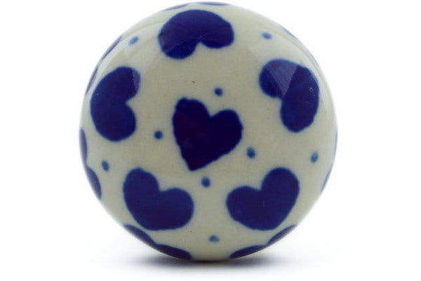 Polish Pottery Drawer knob 1-3/8 inch Hearts Delight